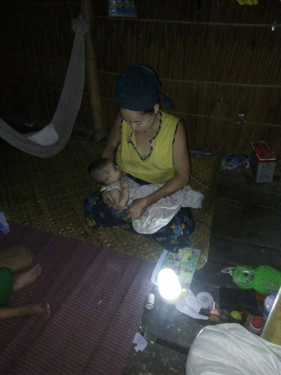 A Nursing Mother  in Myanmar